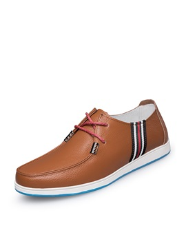 Pu Lace Up Mens Boat Shoes