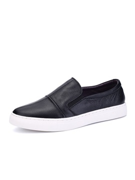 Black Pu Slip On Mens Loafers