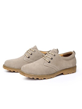 Suede Lace Up Mens Oxfords