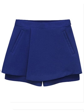 Solid Color Mini Skirt