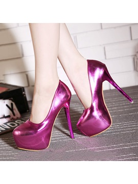 Metallic Platform Stiletto Heel Prom Shoes