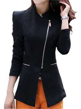 Fashion Sloping Lapel Slim Blazer