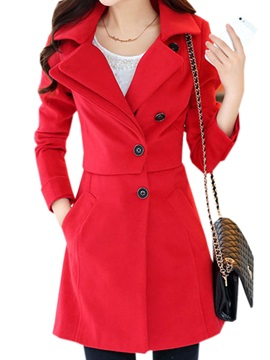 Chic Double Lapel Slim Trench Coat