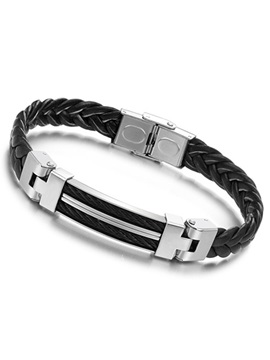 Handsome Weaved Style Mens Bracelet
