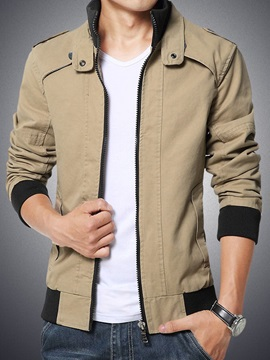 Mens Highneck Zip Up Jacket