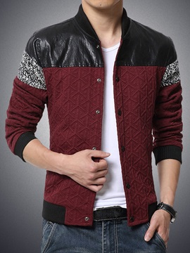 Mens Stylish Fashion Printed Trim Fitted Jacket