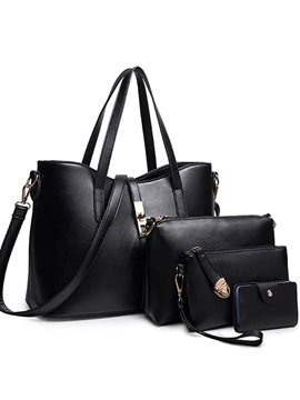 High Quality Zipper Solid Bag Set For Women 4 Pieces