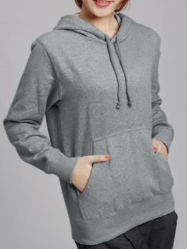 Casual Big Pocket Short Hoodie