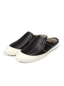 Pu Patchwork Slip On Mens Shoes