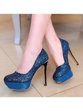 Sequins Platform Womens Prom Shoes