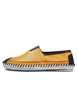 Thread Breathable Slip On Mens Shoes