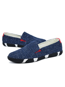 Color Block Slip On Canvas Shoes For Men