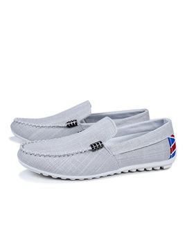 Thread Slip On Canvas Mens Shoes