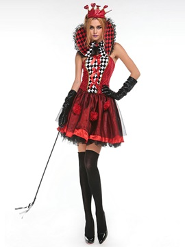 Color Block Falbala Womens Halloween Costume