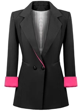 Splendid Color Cuff Lapel Blazer