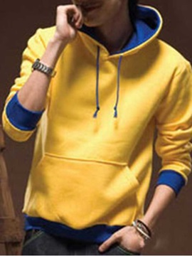 Mens Kangaroo Pocket Pullover Fleece Hoodies