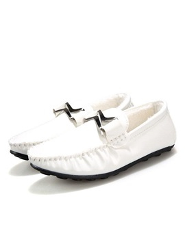 Buckles Ruched Slip On Loafers