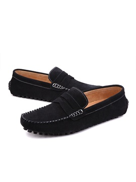 Suede Simple Slip On Mens Loafers
