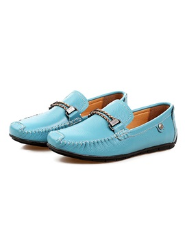 Buckle Ruched Slip On Mens Loafers