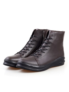 Round Toe Flat Heel Mens Boots