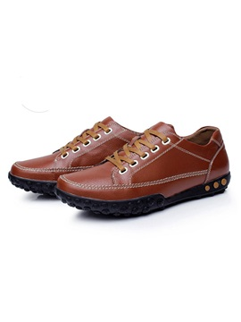 England Round Toe Lace Up Mens Shoes