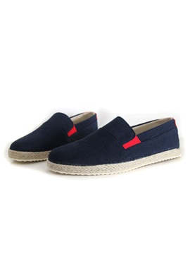 Round Toe Slip On Mens Espadrilles