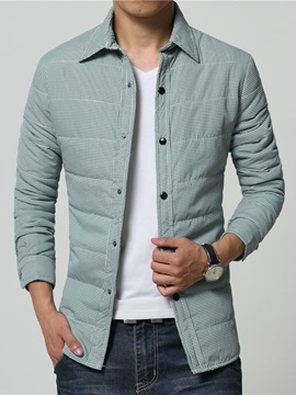 Mens Thick Solid Color Cotton Long Sleeve Shirts