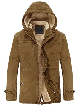 Mens Plain Sherpa Lined Long Coats