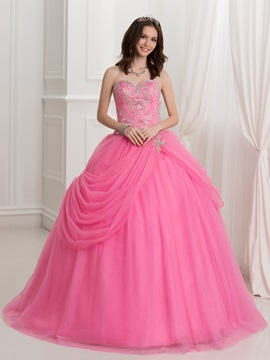 Pretty Sweetheart Embroidery Beading Ball Gown Quinceanera Dress With Jacket Shawl