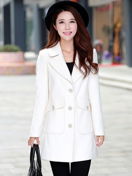 Stylish Lapel Slim Trench Coat