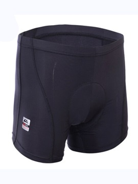 Solid Color Mens Padded Cycling Shorts
