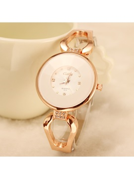 Big Dial Alloy Womens Watch