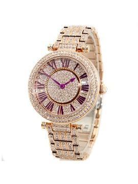 Luxurious Roman Numeral Dial Womens Chain Watch