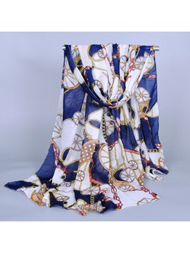 Large Size Carriage Chain Design Scarf
