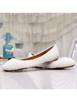 Beading Flat Heel Bridal Shoes