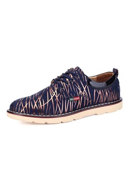 Printed Lace Up Mens Shoes