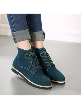 European Round Toe Lace Up Martin Boots
