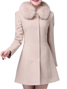 Splendid Collar Slim Overcoat