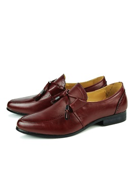 Pointed Toe Lace Up Mens Brogue Shoes