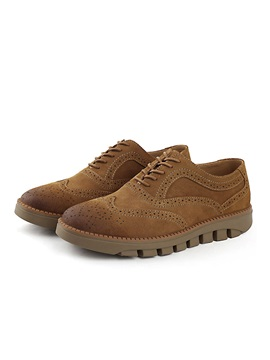 Suede Round Toe Mens Oxford Shoes