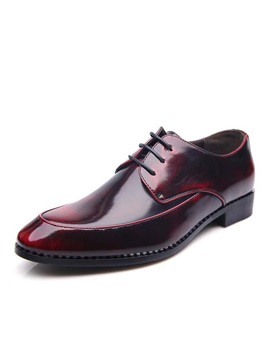 British Style Pointed Toe Lace Up Dress Shoes