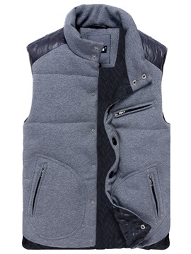 Mens Patchwork Single Breasted Sleveless Vests
