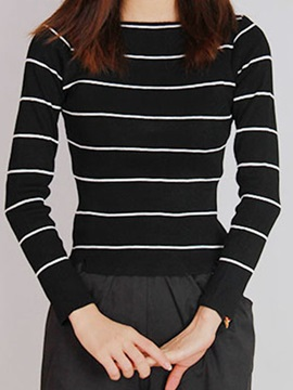 Stripe Slim Sweater