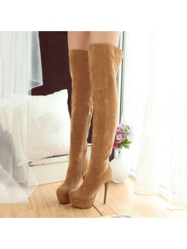 Suede Ed Thigh High Boots