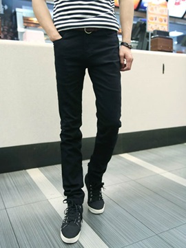 Plain Slim Fit Long Legs Mens Denim Pencil Jeans