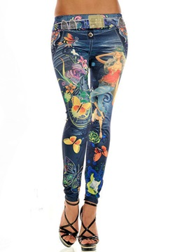 Multicolor Printing Pencil Leggings