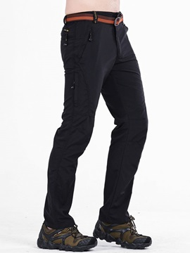 Mens Solid Color Sports Outdoor Fast Dry Casual Pants