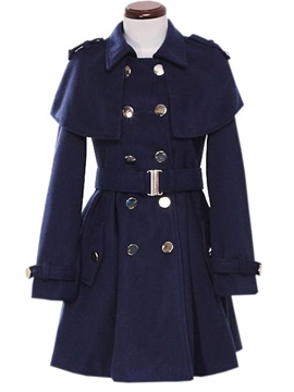 Stylish Cloak Decoration Slim Trench Coat