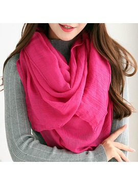 Concise Plain Voile Big Scarf