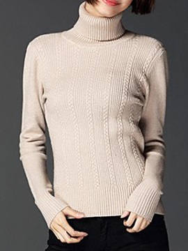 Chic High Collar Slim Sweater